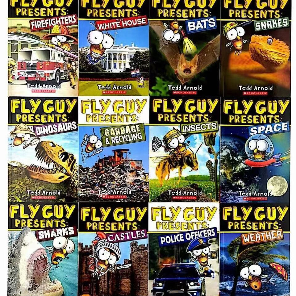 english manga set Fly Guy Children's Nature Science Series Point Reading Complete 12 Books Libros