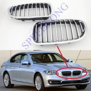 2 Pcs/Pair RH and LH Front bumper grille kidney grill chrome for BMW 5 Series F10/F18 New Model 2014-2015