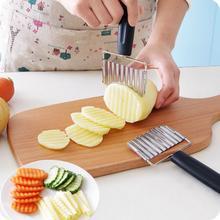 Légumes faisant éplucheur acier inoxydable pommes de terre frites vague Machine de découpe couteau de cuisine couteau à fruits accessoires cuisine Gadget