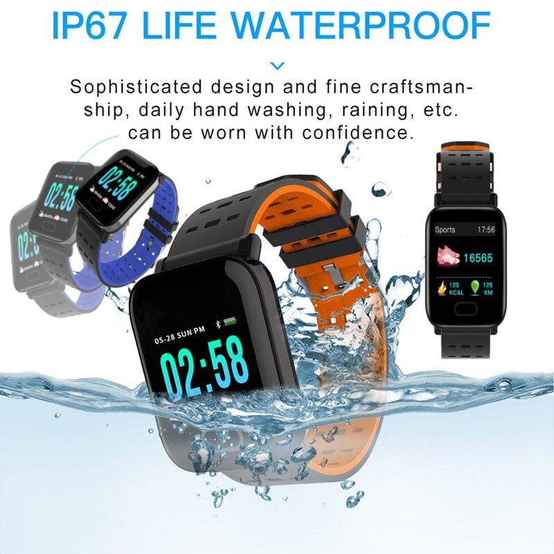 Monitor de Freqüência Relógio de Pressão Arterial à Prova Inteligente Homens Cardíaca Dwaterproof Água Pulseira Smartver Android Ios Amazfit a6 Ver2021for