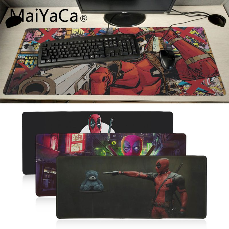 MaiYaCa Deadpool, alfombrilla de ratón de goma de velocidad para jugadores, gran promoción, alfombrilla de ratón para juegos de Rusia, teclado xl, portátil, PC, Bloc de escritorio