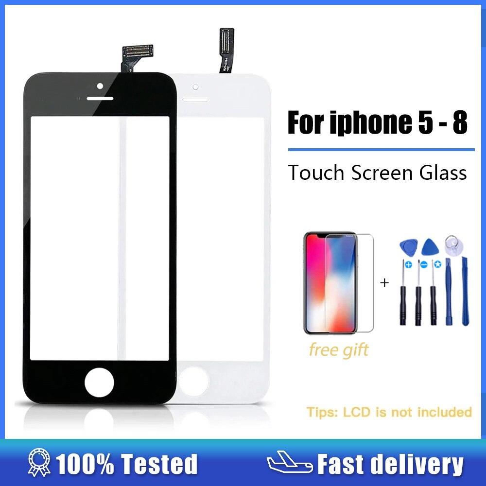 شاشة لمس محول رقمي لآي فون 5 5s 6 plus 6s se 5c شاشة لمس + إطار لوحة لمس أمامية زجاج عدسة 6 p 6S ملحقات الهاتف
