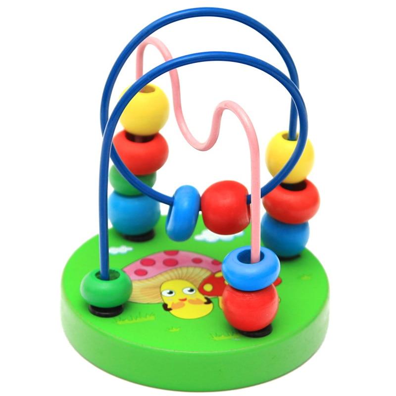 Children's crib stroller mobile 9*11cm, baby walker education cute animal round beads newborn toy