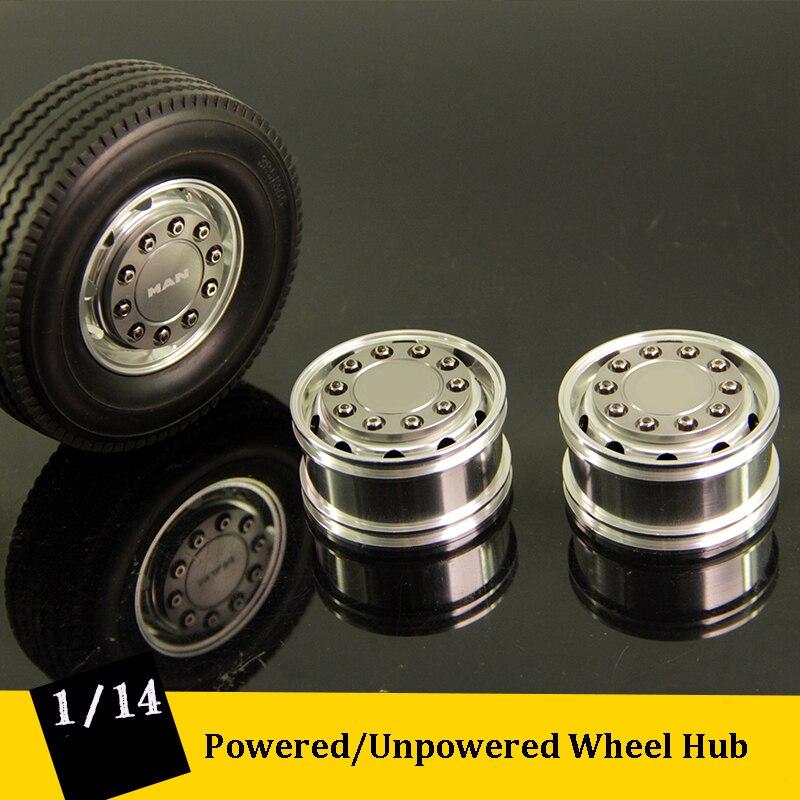 1/14 trator reboque de liga alumínio roda aro diy d47mm cubo da roda para 114 bens scania homem rc caminhões
