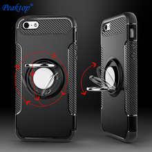 Phone Case For iPhone 6 s 6S 7 7S 8 Plus X 10 5 5S 5SE 11 Pro XS Max XR SE2 2020 6Plus 7Plus 8Plus Metal magnetic Bracket Cover