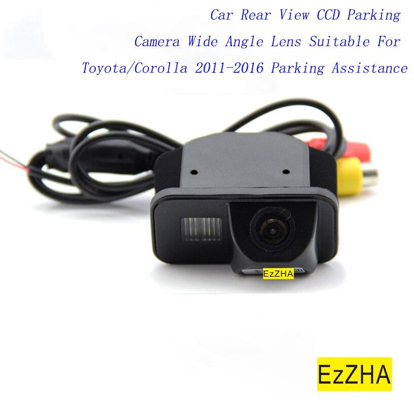 EzZHA Автомобильная камера заднего вида CCD для парковки широкоугольный объектив подходит для Toyota/Corolla 2011-2016 помощь при парковке