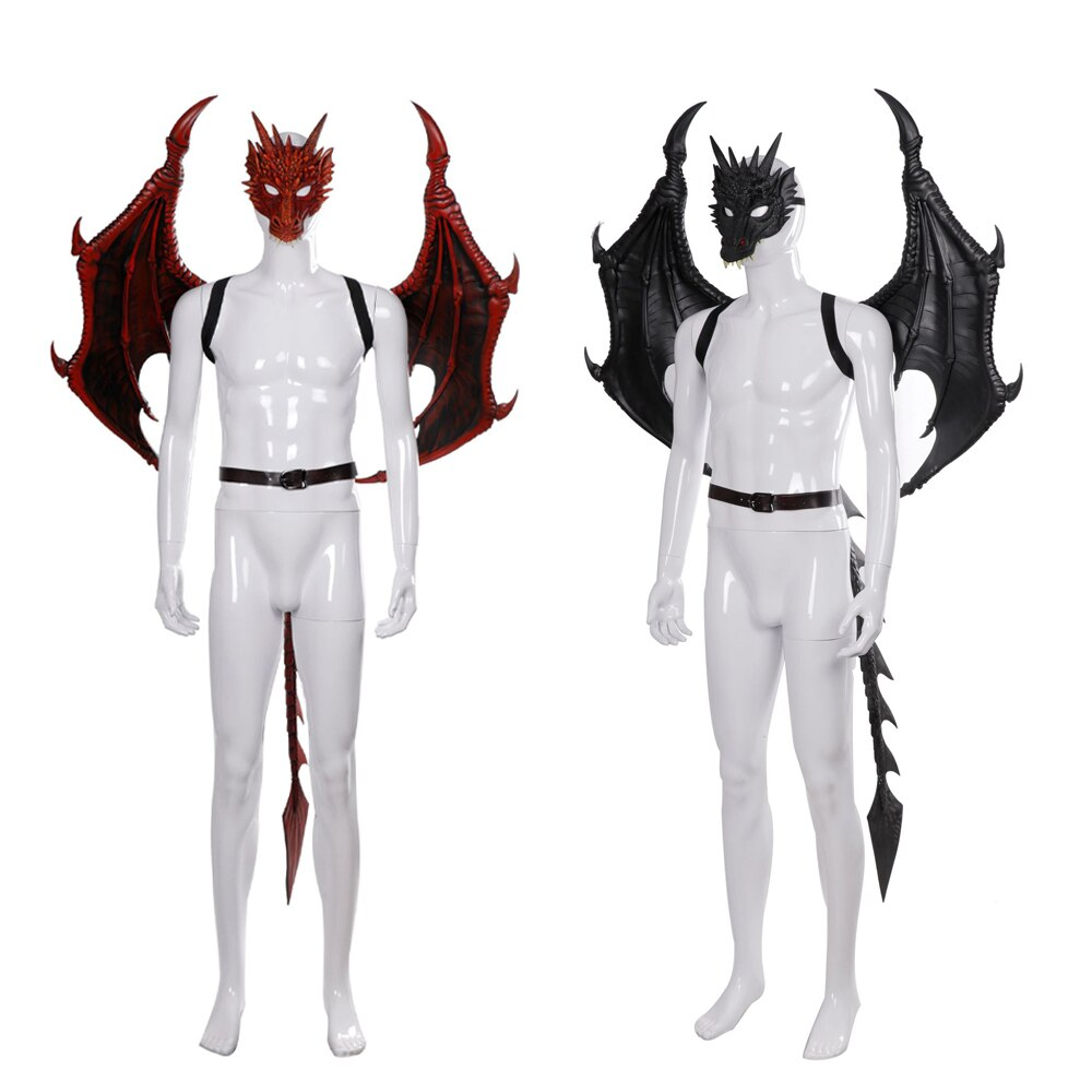 Фото - 2020 New Adult Dragon Pterosaur Mask Dragon Tail Cosplay Set Halloween Game Party PU Foam Cosplay Men and Women Dragon Wing Mask natalie yacobson swan and dragon dragon empire
