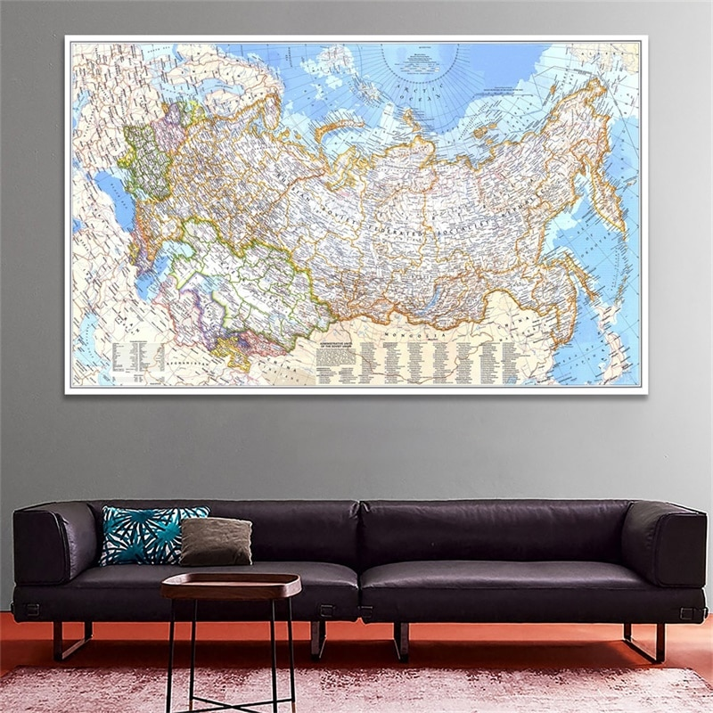 magic world map wallpaper wall stickers for kids rooms bedroom sticker painting poster home decoration accessories Antique World Map of Russia 1976 Poster Non Woven World Map Wall Sticker for Room Home Office Decoration Print Painting Supplies