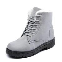 winter womens cotton boots trend women with velvet warm boots fur cotton shoes women large size 44 platform shoes leather boots