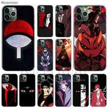 Anime Naruto Uchiha Itachi teléfono funda de carcasa para Apple iPhone 11 Pro Max SE 2020 X XR XS MAX 7 7 6 6s Plus 5S cubierta Coque