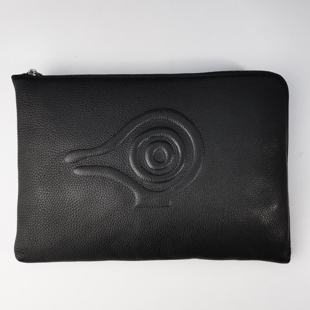 Orabird سليم المرأة حقيبة كروسبودي أسود المغلف لينة جلد طبيعي A4 ورقة حقائب كتف