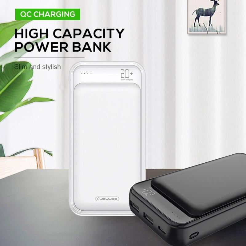 Banco de energía Jellico de 20000 mAh, Banco de carga portátil para teléfono móvil, cargador de batería externo, Banco de energía de 20000 mAh para Xiaomi Mi