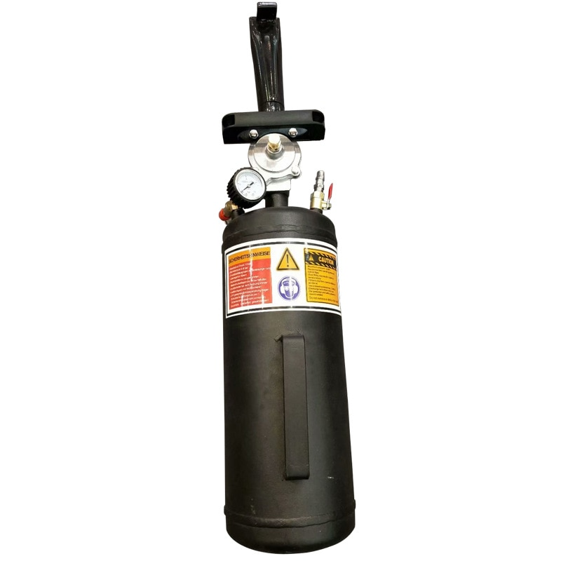 3 galões carro pneu talão seater pneu explosão do tanque de ar do vácuo ferramenta de reparo do pneu ar impulsionador blaster inflar bomba aferidor portátil