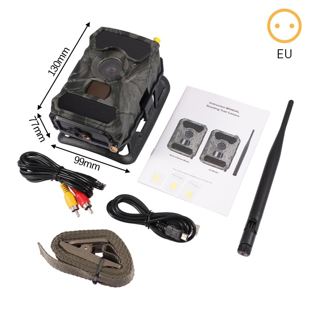 كاميرا صيد درب 12MP 1080P كاميرا صيد للمراقبة البرية الأشعة تحت الحمراء للرؤية الليلية كاميرات الكشافة البرية