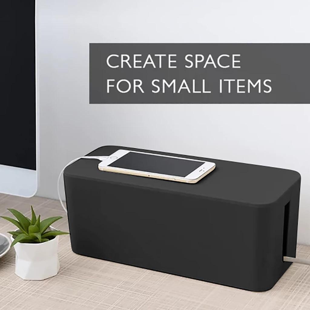 De Cable hogar caja de almacenamiento portátil móvil belleza práctica de caja de almacenamiento de Cable hembra Cable organizador suministros