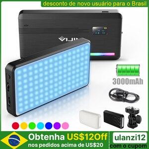 VIJIM VL196 RGB светодиодный светильник для видеосъемки 2500K 9000K с регулируемой яркостью заполняющий светильник DSLR для смартфона Vlog светильник для ...