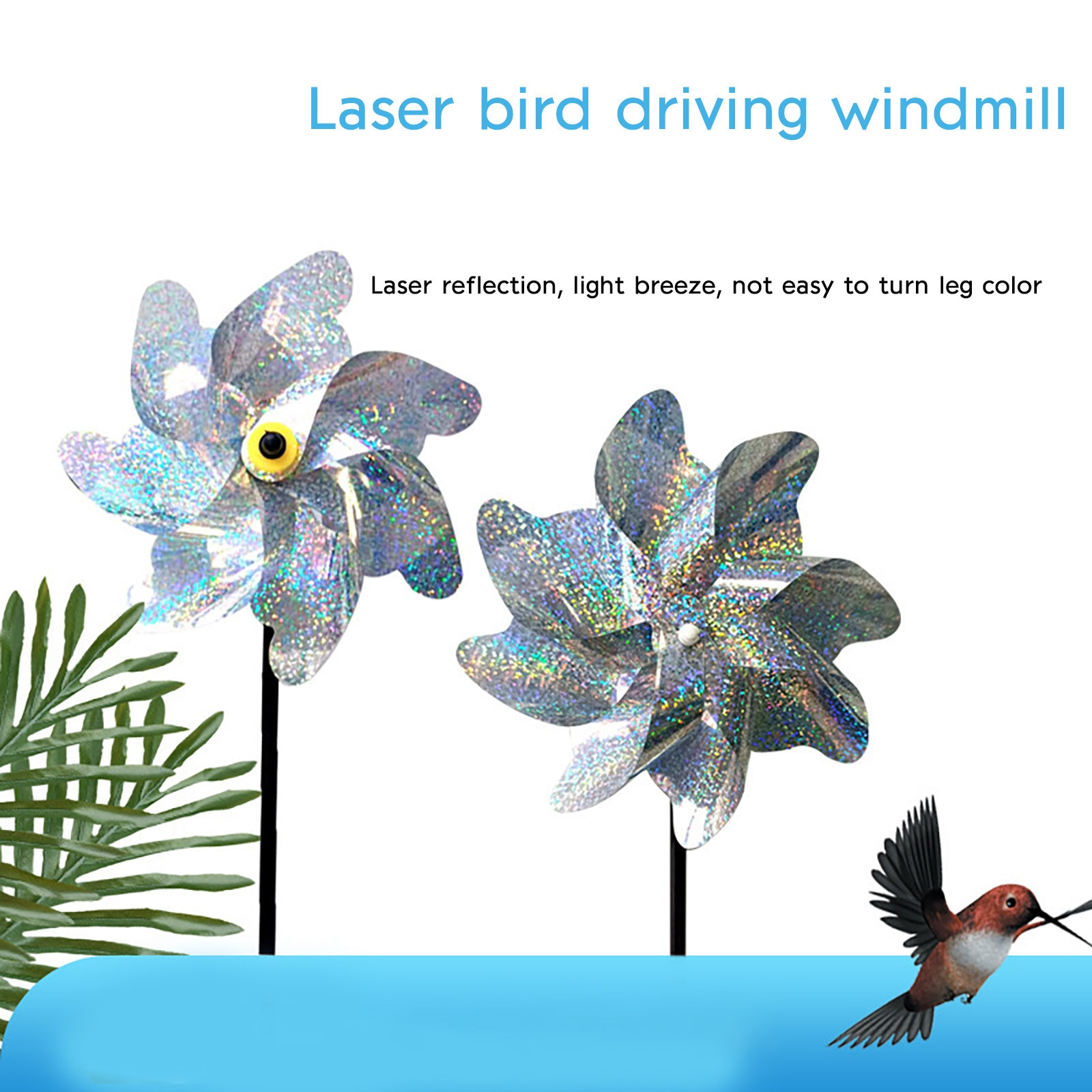 Garden Decoration Outdoor Lead Home Pack of Bird Repellent Reflective Windmill Bird Protection for Garden tuin decoratie