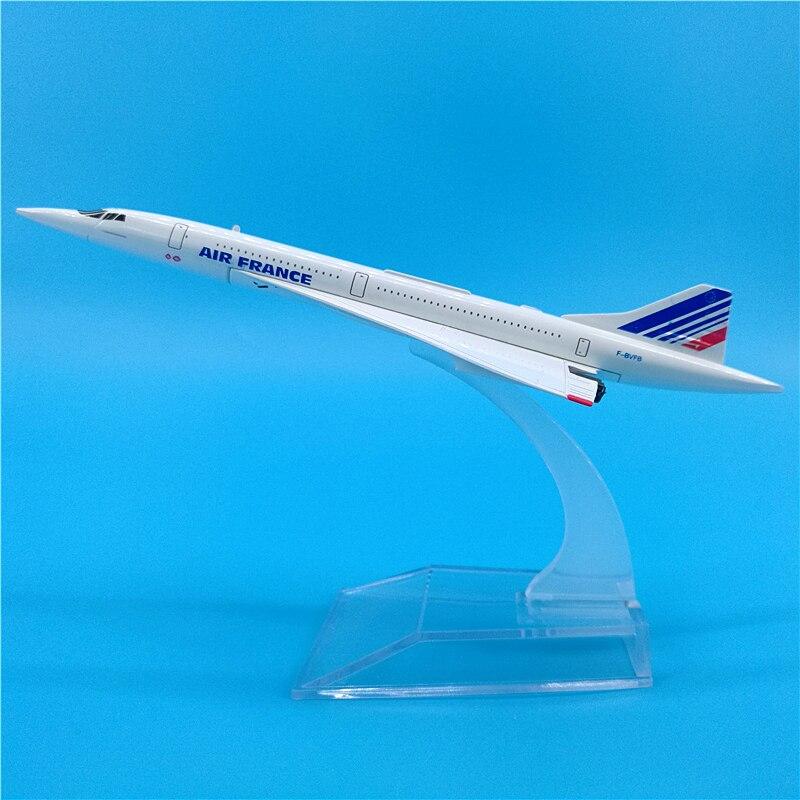 Avión a escala 1400 de 16CM, Avión de juguete de avión a escala 1976-2003, Avión de juguete supersónico, avión de pasajeros de regalo coleccionable