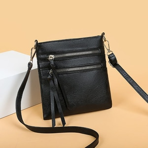 Simply Crossbody Bags PU Leather Solid Color Shoulder Messenger Bag Lady Chain Travel Small Handbags for Women 2020