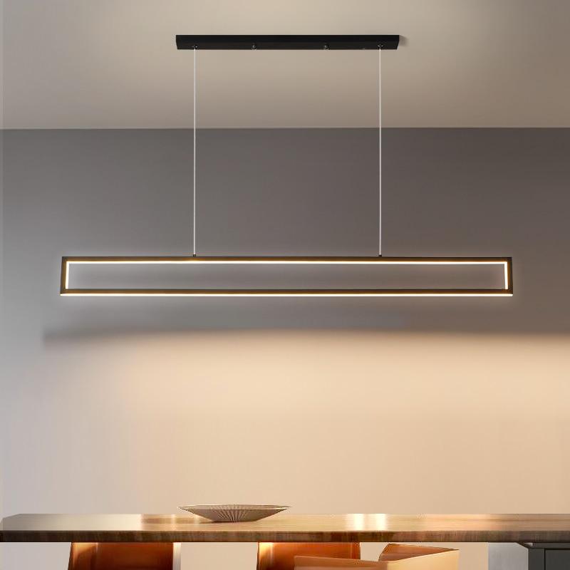 Moderno led pingente luzes restaurante nordic sala de estar lâmpadas pingente luxo decoração interior iluminação 100cm / 120cm