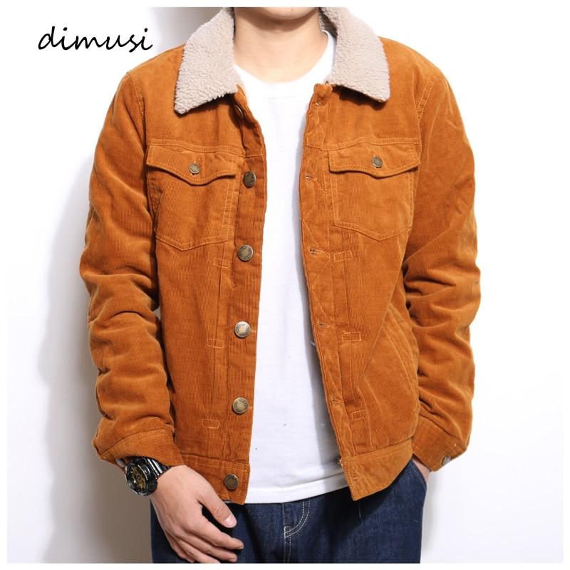 DIMUSI invierno para hombre chaqueta de mezclilla de moda para hombre chaquetas de pana abrigadas chaquetas casuales para hombre