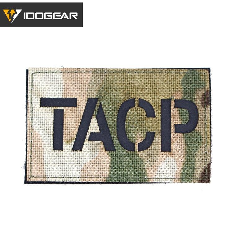 IDOGEAR MP TACP PJ infrarrojo parche moral insignias militares, Airsoft camuflaje equipo táctico 3926