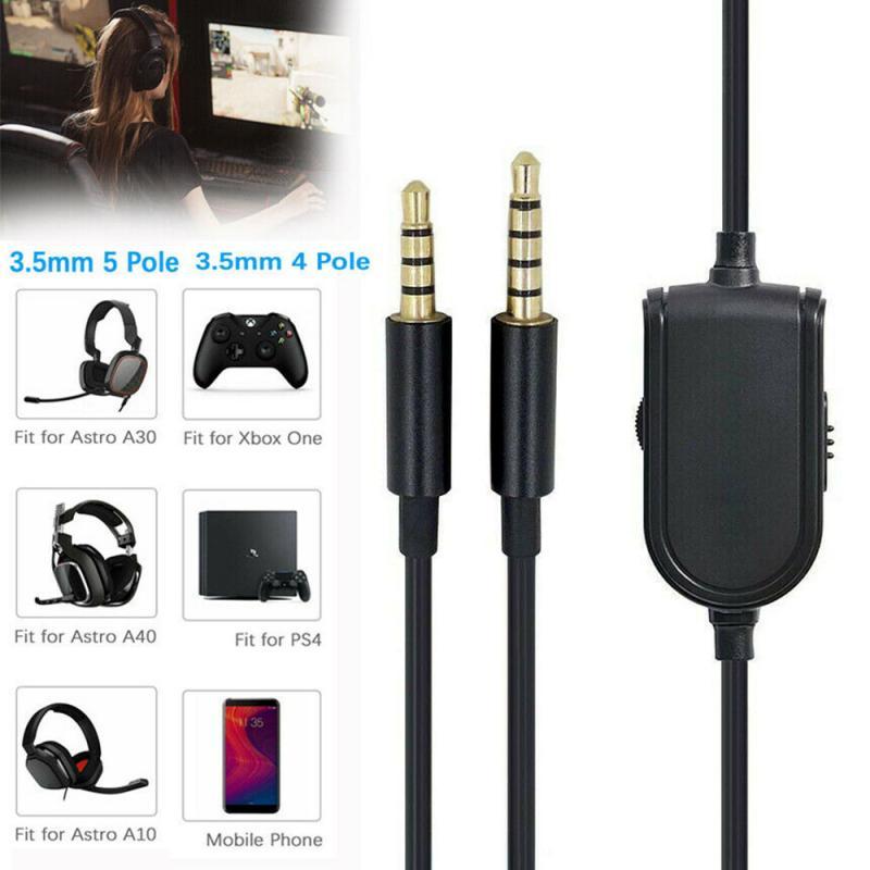 Cable de Audio para videojuegos Astro A10, A40, A30, A50, montaje en cabeza para PS4, Smartphone de 3,5mm y 4 polos/5 polos