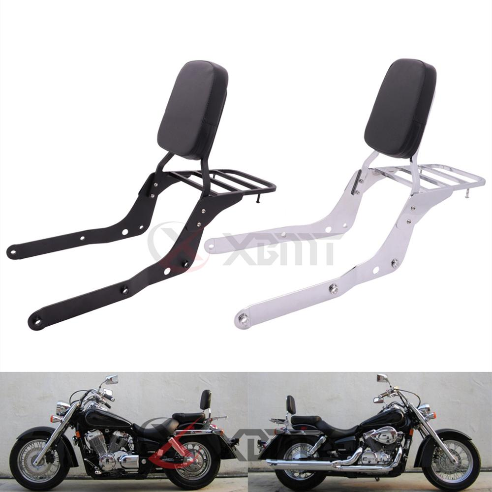 Respaldo para motocicleta respaldo de pasajero portaequipajes para Honda Shadow Aero 750 VT750 VT750C 2004, 2005, 2006, 2007, 2008, 2009, 2010, 2011, 2012