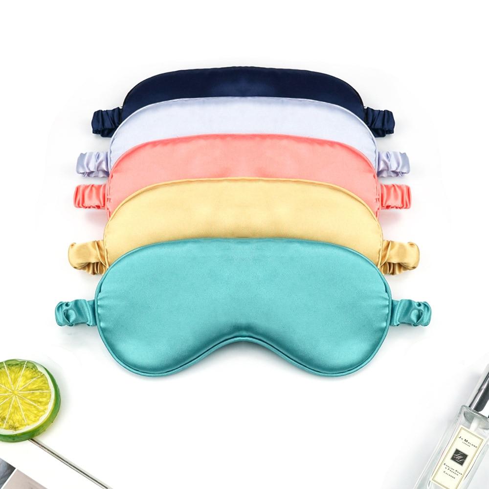 Women Imitated Silk Sleep Eye Mask Portable Travel Eyepatch Nap Eye Patch Rest Blindfold Eye Cover S