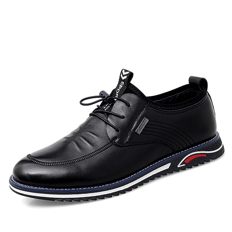 Brand Genuine Leather Men Oxfords Shoes British Style Men Business Formal Shoes Dress Shoes Men Flat