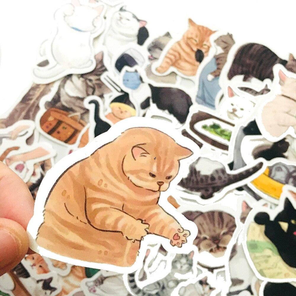 10-54-uds-lindo-gatos-animal-pegatina-de-graffiti-estilo-mixto-juguetes-para-maleta-portatil-bicicleta-equipaje-coche-scooter-pegatina-para-patineta