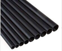 10 pièces 35*32*1000MM 3K Tube de Fiber de carbone