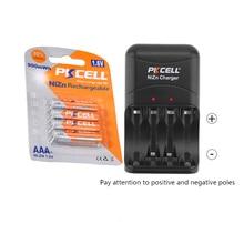 4 batterie ricaricabili PKCELL NIZN aaa 900mwh 1.6v batterie AAA e caricabatterie NIZN per batterie AA o AAA da 2 a 4 pezzi