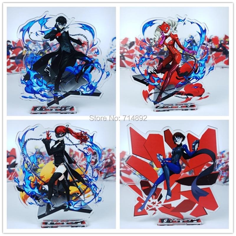 Personnage 5 figurines jouet AnimeRen Amamiya personnage Morgana Ryuji Sakamoto Ann Takamaki Makoto Niijima acrylique poupée de bureau 15cm