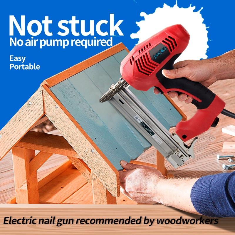 JAYOBPclavos eléctrica pistola de clavos de acero, herramientas especiales para carpintería de...