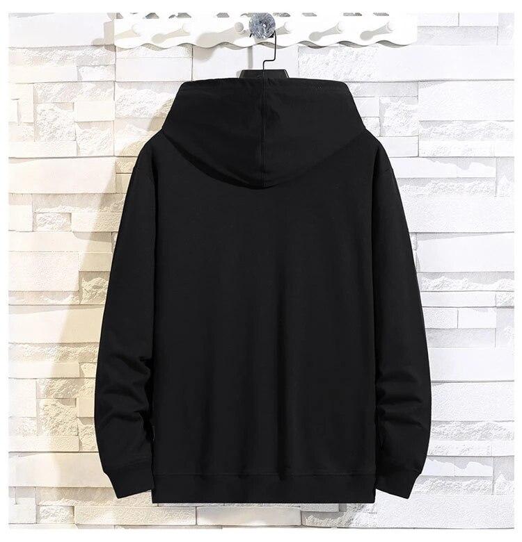 autumn men korea style sweatshirt hooded hoodies print plus size 7XL 8XL 9XL sports coat casual loose oversize sweatshirt 68 70
