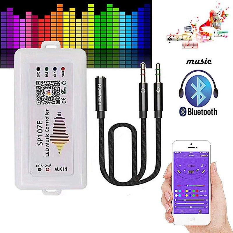 IG-WIFI RGB SP107E Pixel IC SPI música controlador Bluetooth para WS2812 SK6812 SK9822 RGBW APA102 LPD8806 de DC5-24V