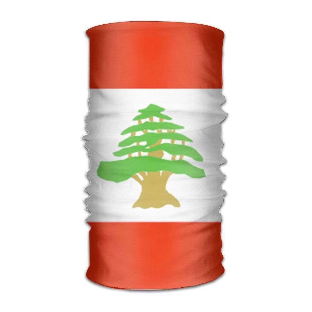 Lebanon Flag Outdoor Scarf 12 Inches Headbands Bandana Mask Neck Gaiter Head Wrap Mask Sweatband