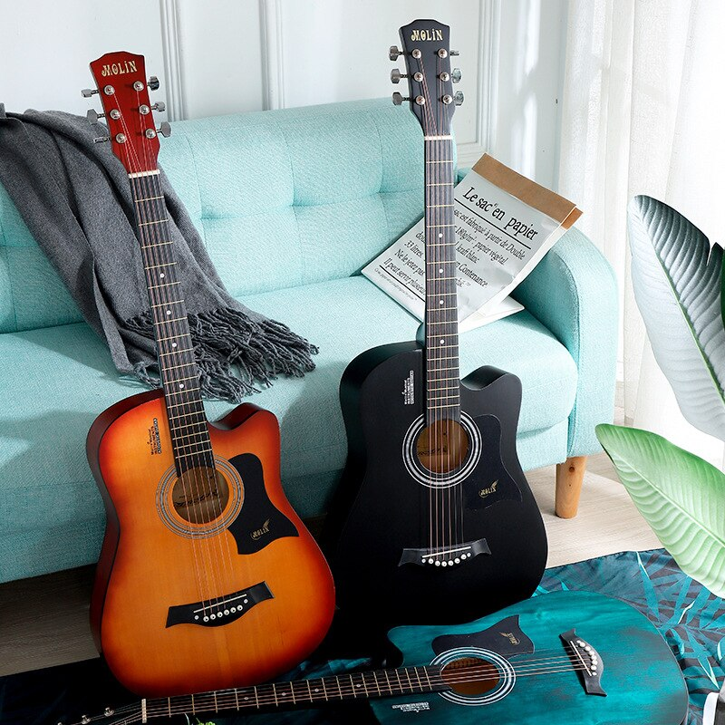 41 inch Guitar 6 String Folk Pop Guitar Acoustic Guitar Solid Wood Guitarra Professional   Guitarra Send Accessories AGT160