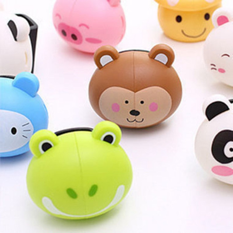 Cute Various Cartoon Animal Head Toothbrush Holder stand with Wall Suction Cup