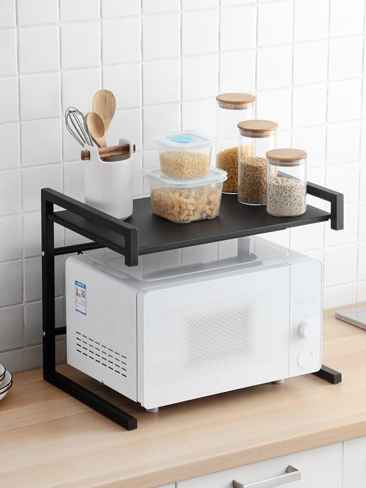 فرن الميكروويف المنزلية الرف الفولاذ المقاوم للصدأ طاولة مطبخ فرن الكلمة تخزين الرف رف متعدد الطبقات