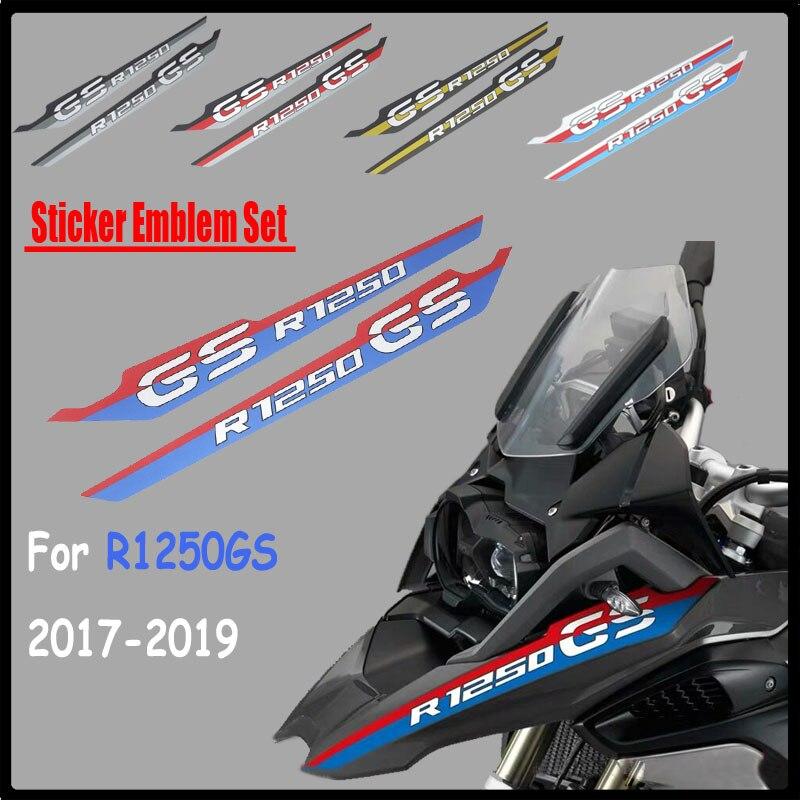 Conjunto de emblema de adesivo r1250 gs, acessórios para motocicleta e moto à prova d água para bmw r1250gs 2018 2019