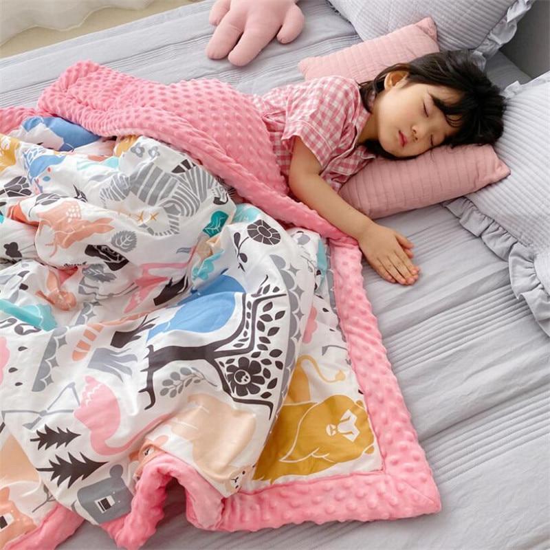 23 Design Cotton Children Kids Boy Girl Air-conditioner Room Sleeping Blankets Swaddling Bedding Quilt Baby Blanket for Beds