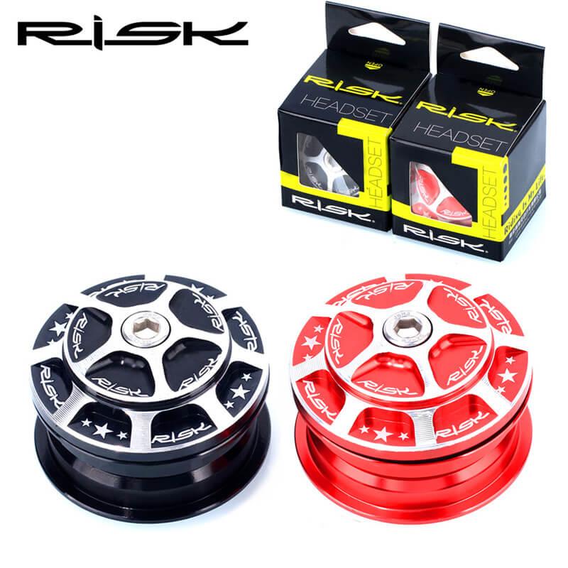 "RISIKO Fahrrad Aluminium 44mm Headset Gebaut-in Versteckte MTB Rennrad 1 1/8 ""(28,6mm) gerade Gabelschaft Gabel Lager Headset"
