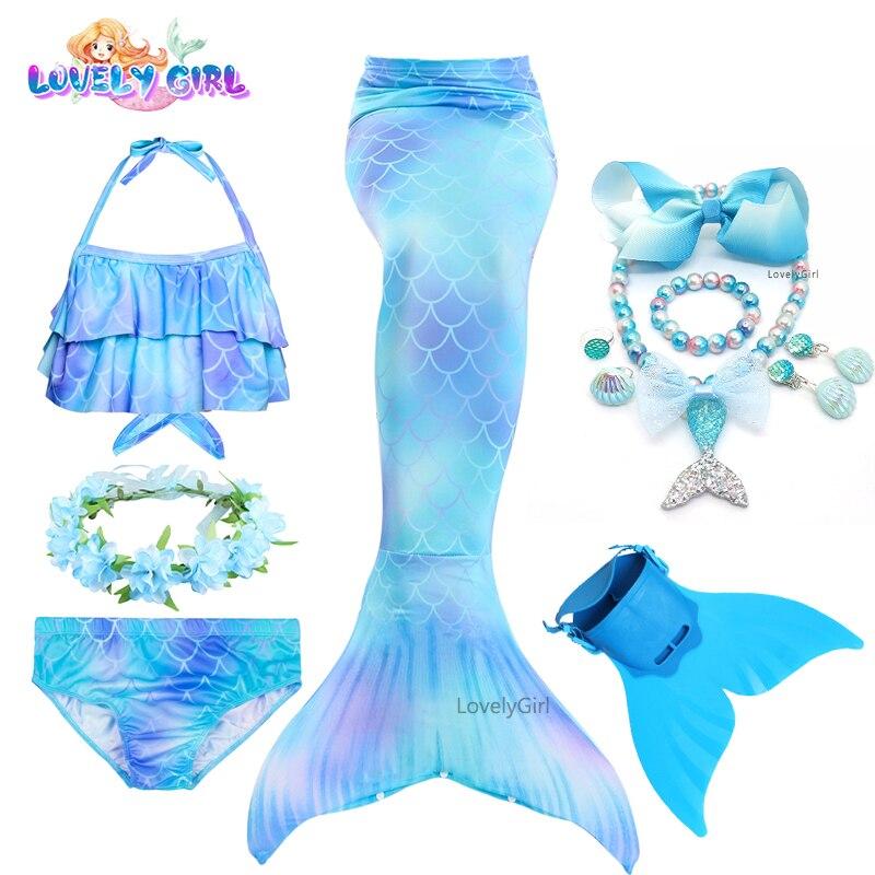 Mermaid Tail Bikini Mermaid Costume Cosplay Bathing Suit with Monofin Birthday Gift mermaid dress pa
