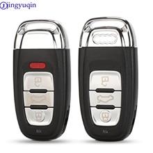 Funda de 3 botones con mando a distancia inteligente para Audi A4L A6L Q5 A5 754C / 754G con hoja