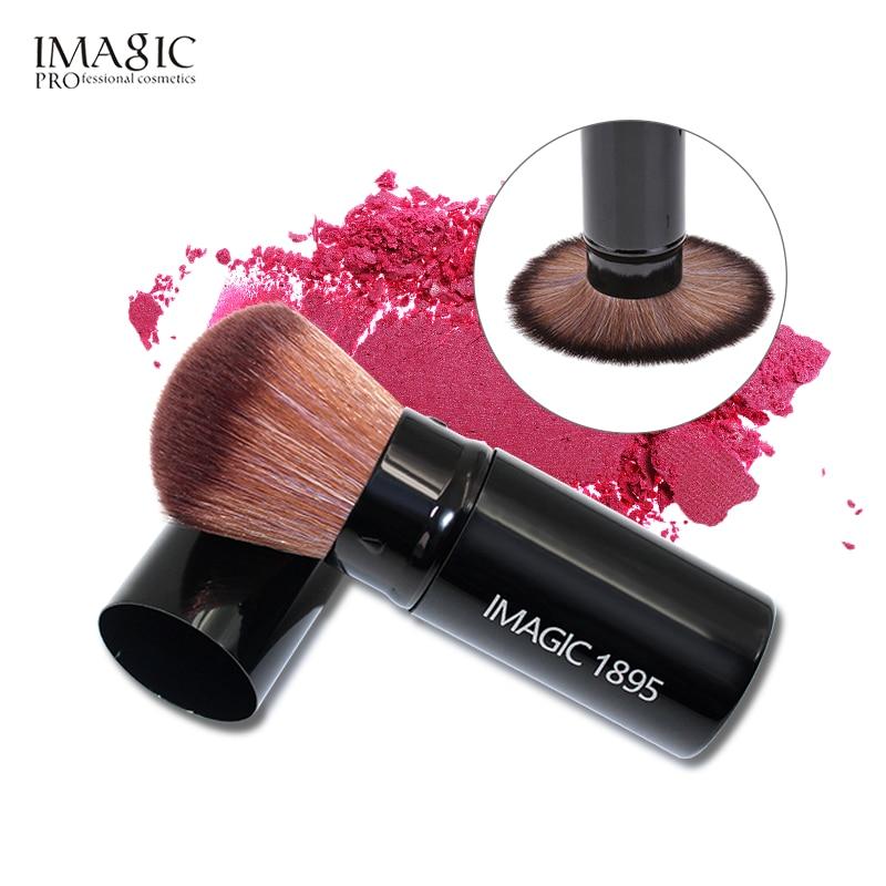 IMAGIC profesional retráctil maquillaje Blush cepillo de polvo cosmético ajustable cara cepillo de herramientas