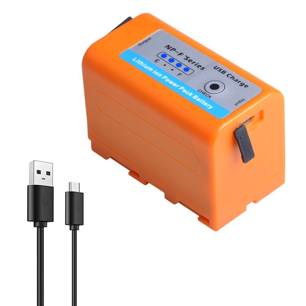 Nueva 7800mAh NP-F970pro NP-F960pro NPF960 NPF970 batería y salida de carga USB para Sony PLM-100 CCD-TRV35 MVC-FD91 MC1500C L50