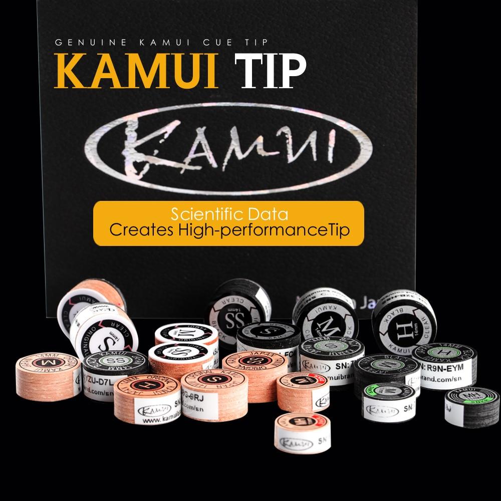 Original Japanese KAMUI Tip Pool Cue Snooker Tip 11mm/14mm Tip 6/8 Layers H/M/S/S Hardness Snooker Cue Tip Kamui Clear Tip