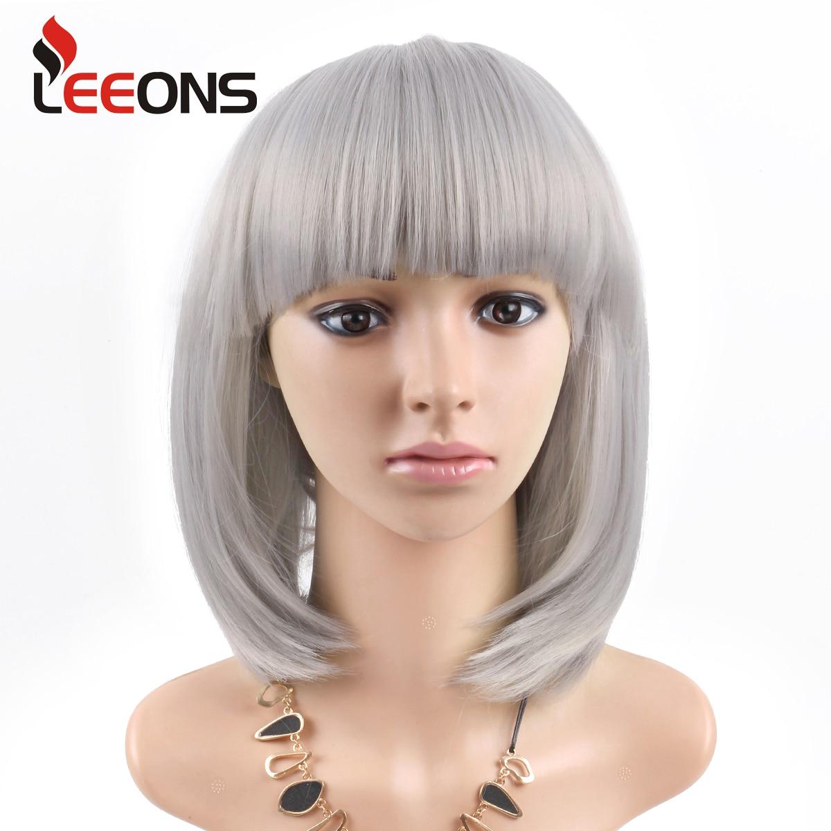 cinza 12 polegada curto em linha reta bob peruca para as mulheres peruca de cabelo